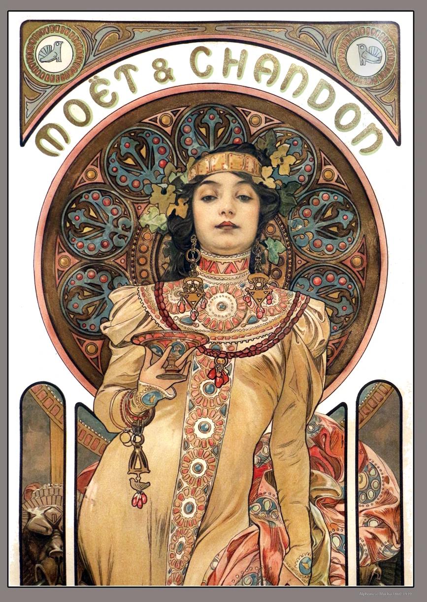 Photo of Mucha Moet & Chandon Poster