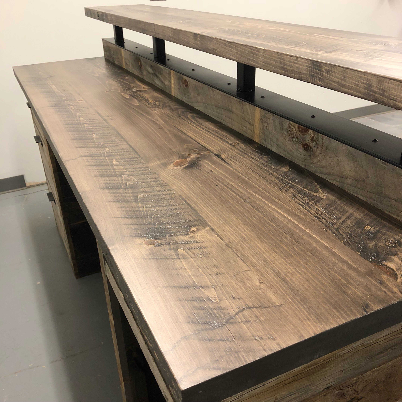 Barn Wood Reception Desk // Front Counter // Modern Desk ...