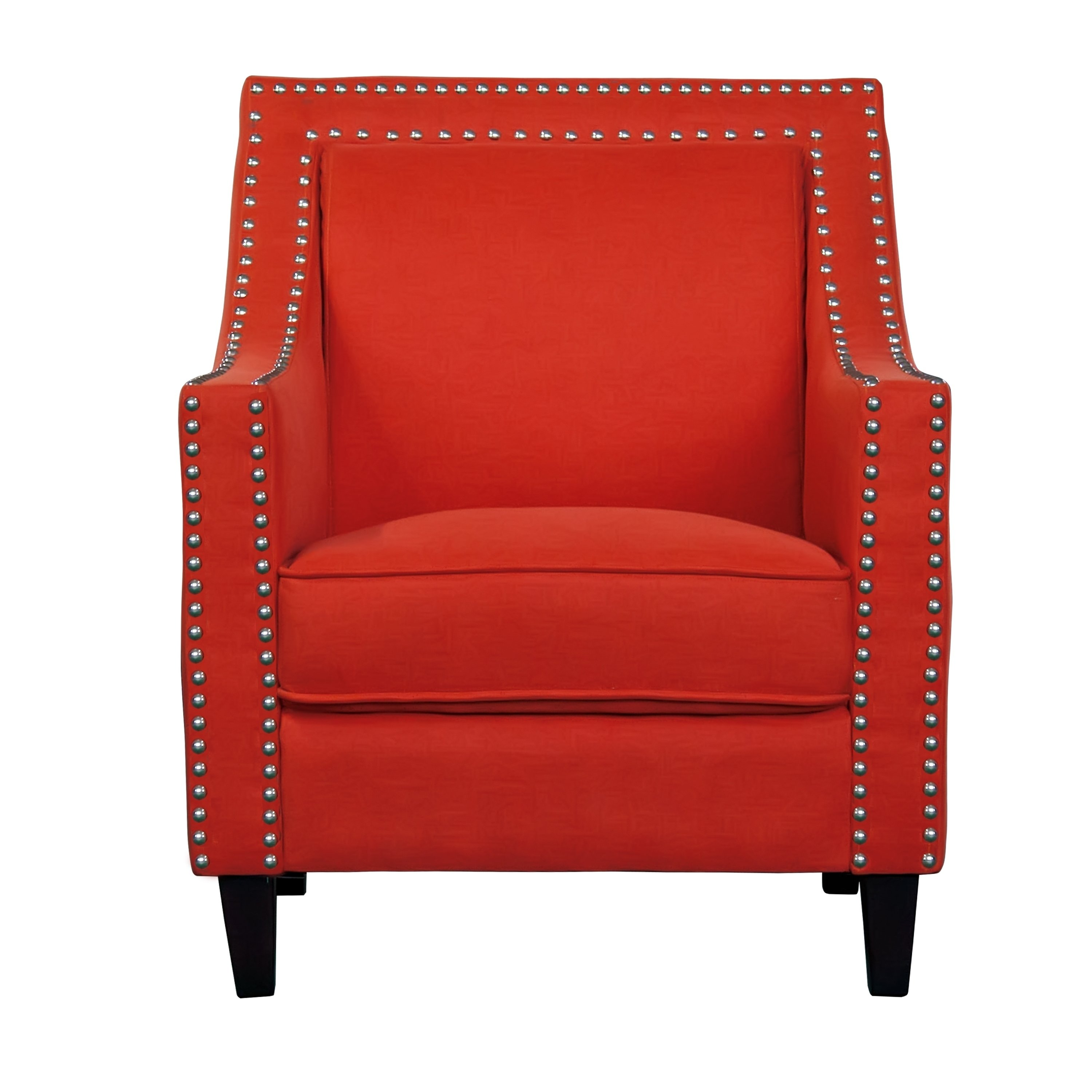 Peachy Transitional Nailhead Trim Accent Chair In Blue As Is Item Onthecornerstone Fun Painted Chair Ideas Images Onthecornerstoneorg