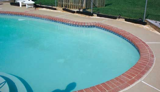 Pool Tile With Brick Coping Google Search Pool Blue