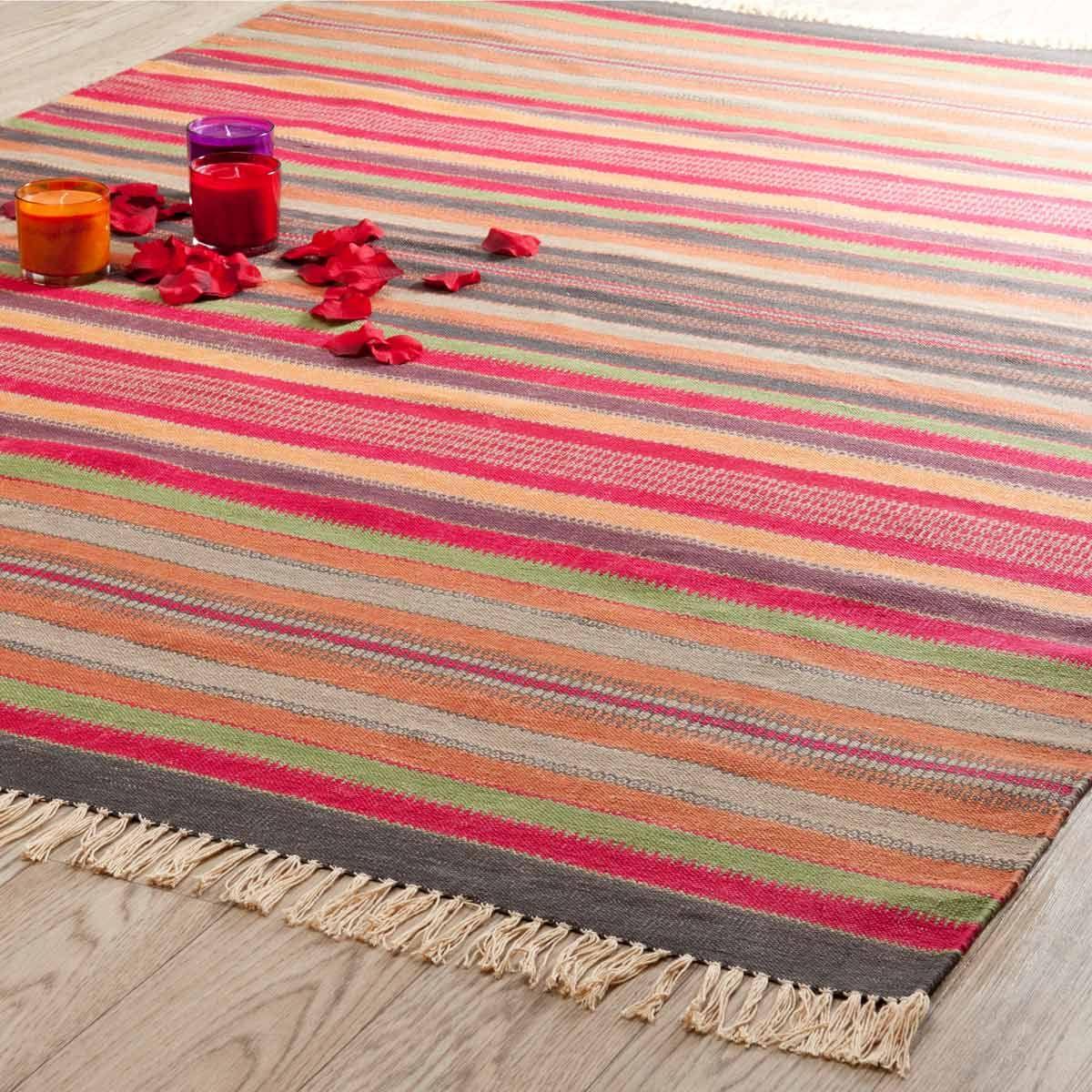 teppich bunt gestreift agadir 200x140 149 wohnzimmer pinterest teppich bunt wohnzimmer. Black Bedroom Furniture Sets. Home Design Ideas