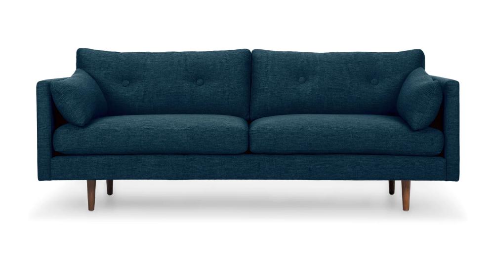 Anton Twilight Blue Sofa Mid Century Modern Sofa Modern Sofa Couch Comfortable Sofa