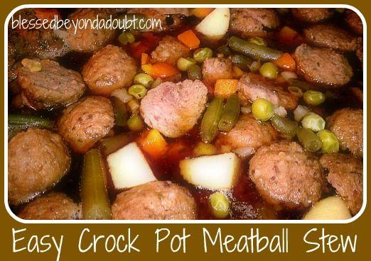 Meatball Crock Pot Stew!