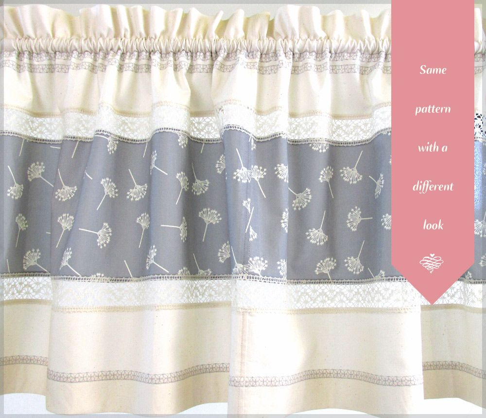 Lovely lace valances sewhome sewing with sewhome