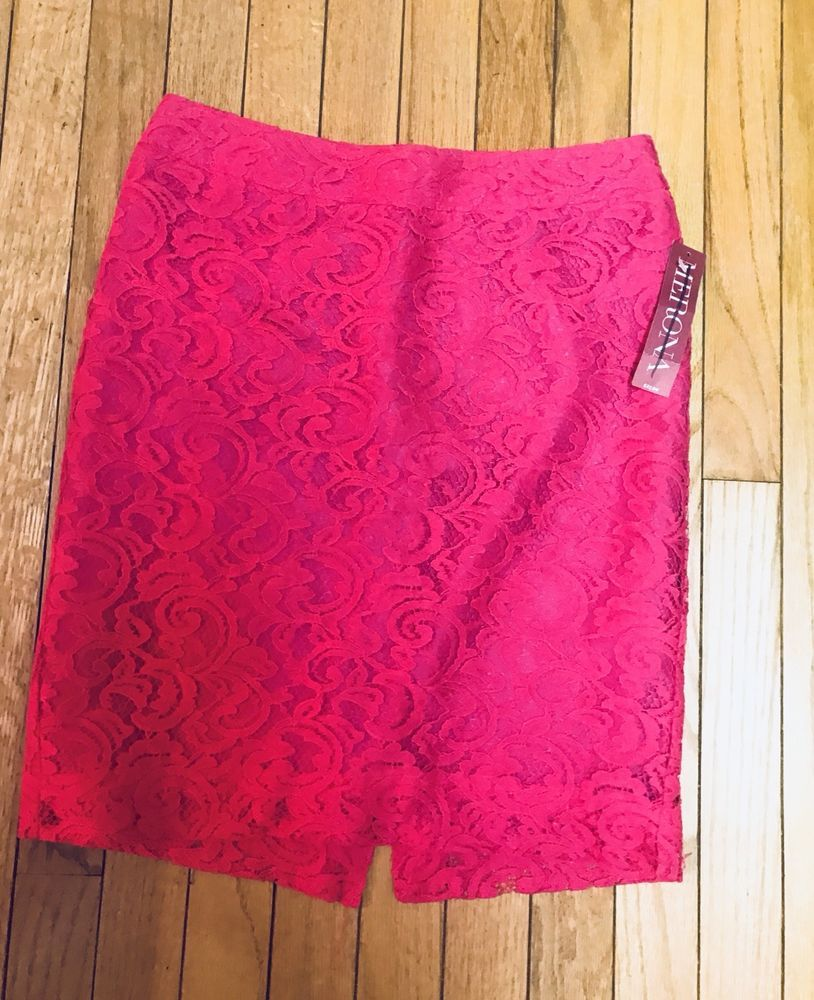 81915f2ef3f4a2 Merona 2 Hot Pink Lace Skirt NWT Lined Mini Sexy Holiday #fashion #clothing  #shoes #accessories #womensclothing #skirts (ebay link)