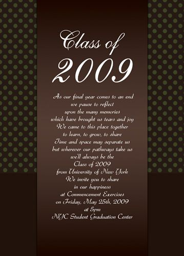 high school graduation invitation templates - Google Search ...