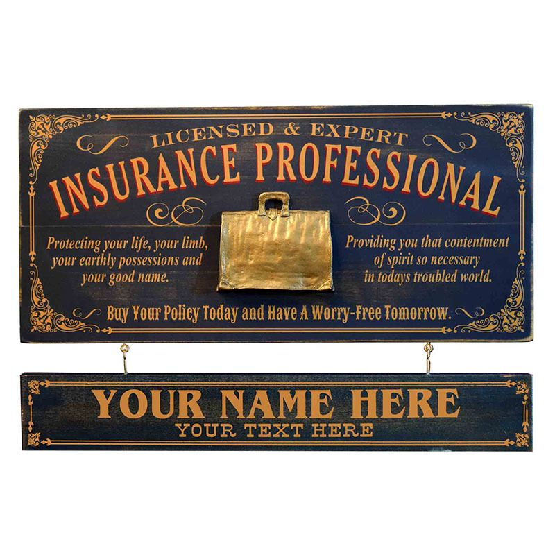 Northwest Gifts - Vintage Insurance Professional Plaque ...