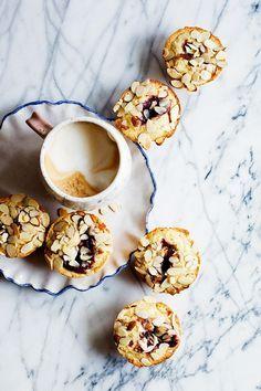 Jam Filled Almond Muffins