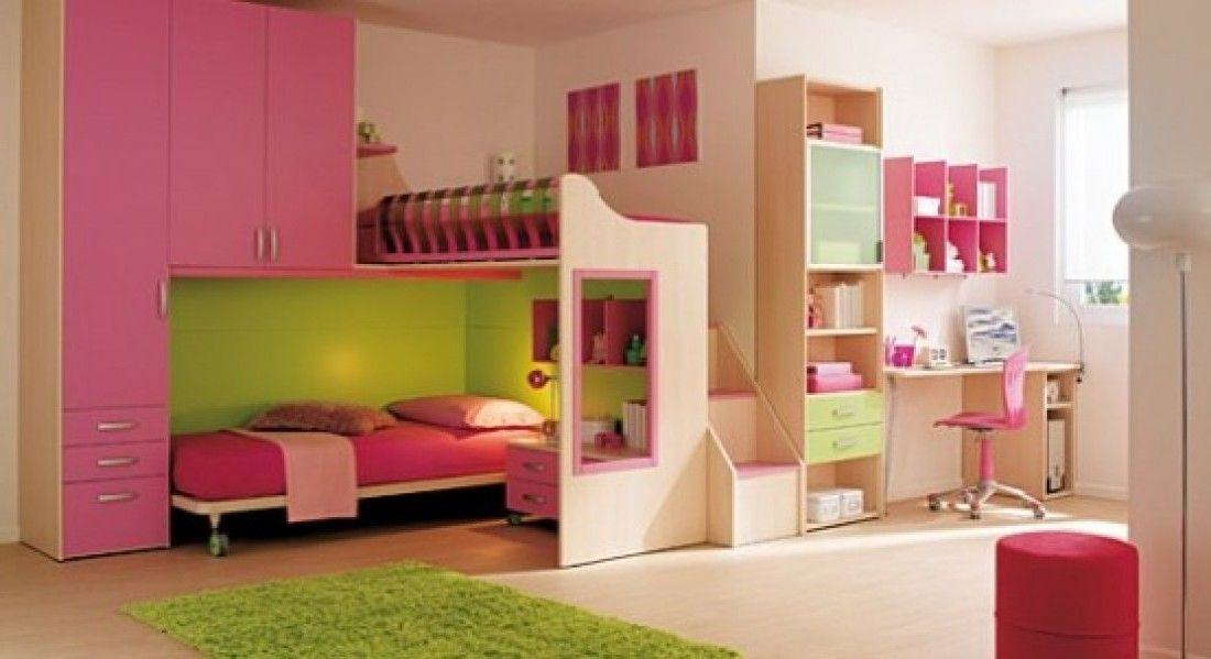 Bedroom:Pink Kids Bedroom Furniture Idea Pink Bedcover Pink Chairs