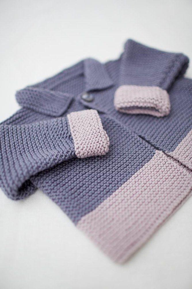 Garter stitch jacket | Knitting | Pinterest | Main colors, Contrast ...