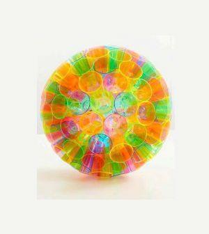 Pendente para decorar com copos coloridos - Vale o Clique!