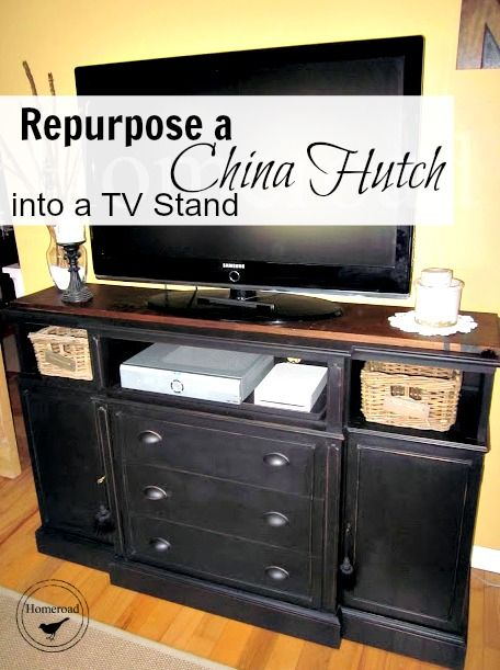 Turn That Old China Cabinet Into An Awesome Tv Stand Here Is The How To Www Homeroad