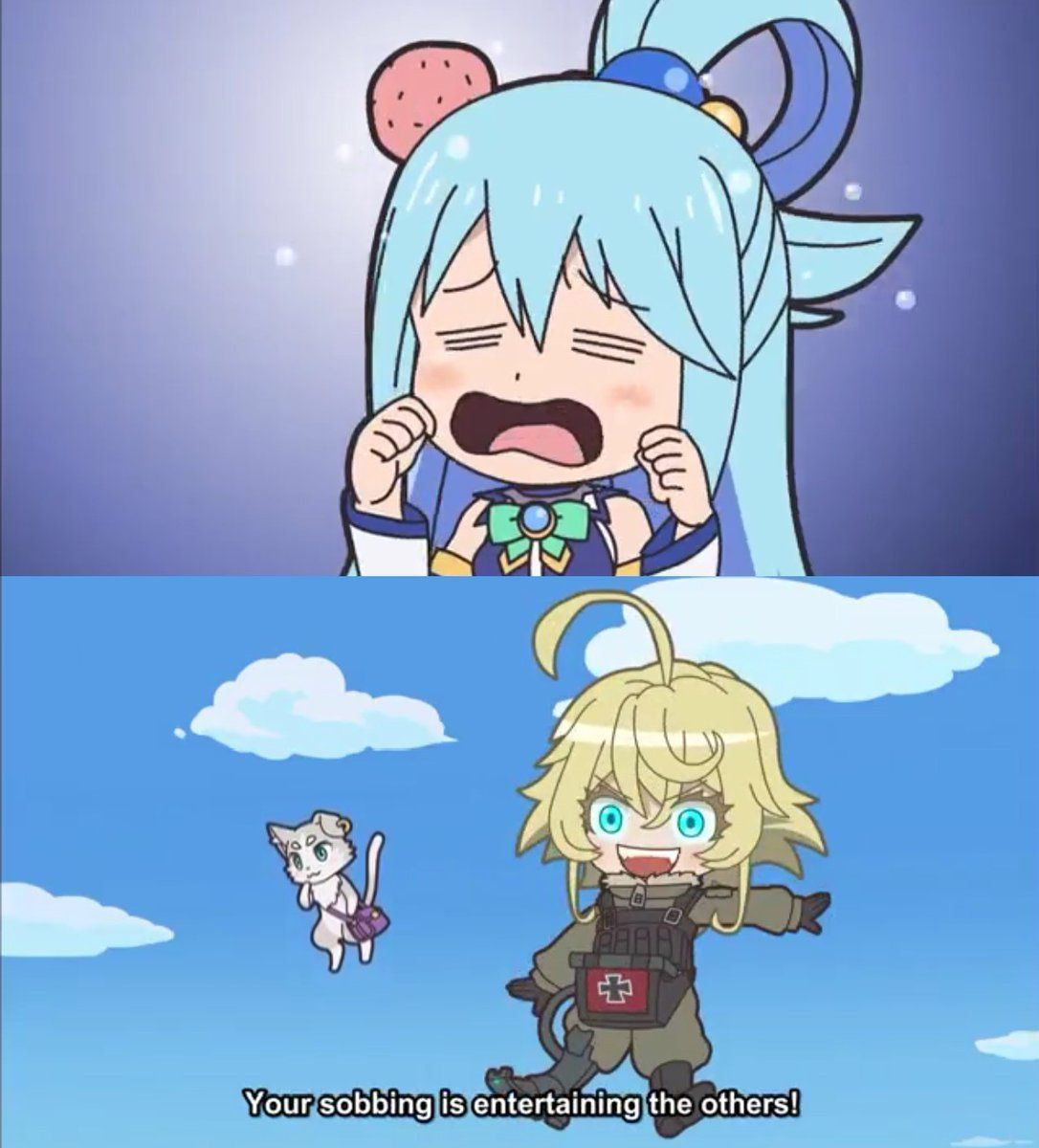 Aqua in a nutshell in 2020 Anime funny, Anime crossover