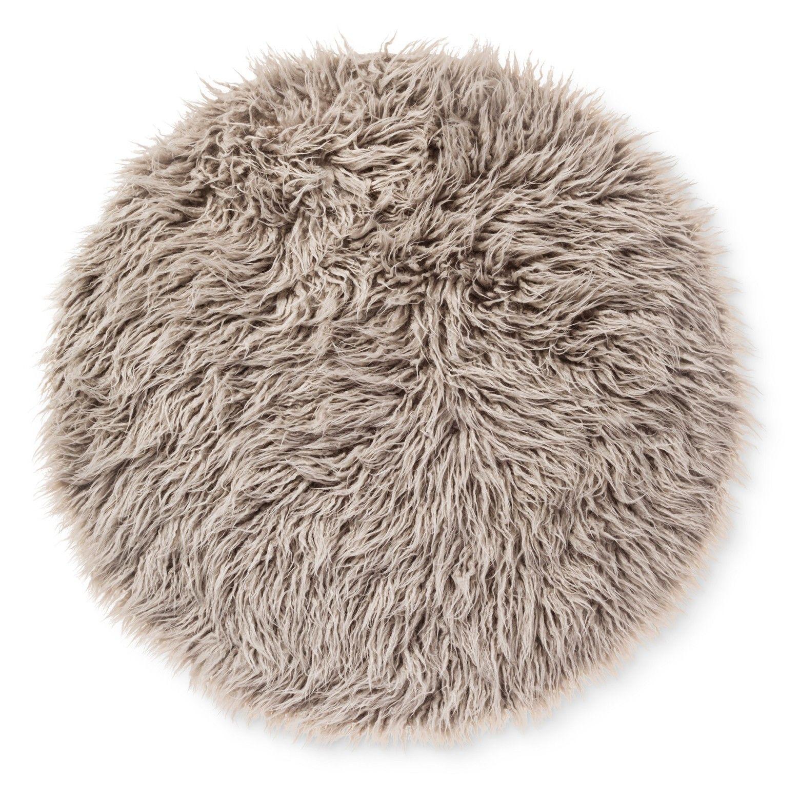 Faux Fur Rug 3 Round Gray Pillowfort Faux Fur Rug Faux Fur Area Rug Fur Rug [ 1560 x 1560 Pixel ]