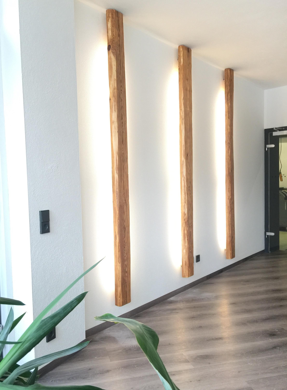 Blickfang aus #Altholz � #Lampe #living #Beleuchtung...