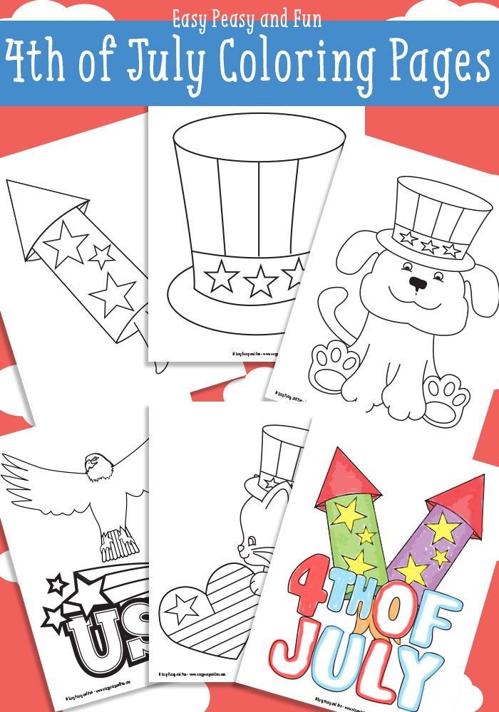 Free 4th Of July Coloring Pages | Ludoteca, Colorear y Tierra