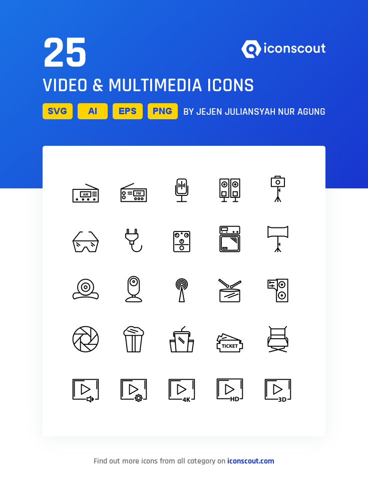 Download Download Video & Multimedia Icon pack - Available in SVG ...