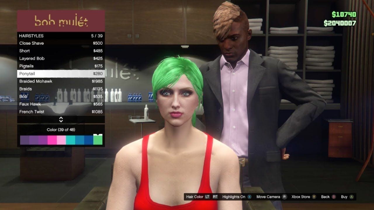 Gta Online All Female Hairstyles Updated Womens Hairstyles Gta Hair Styles