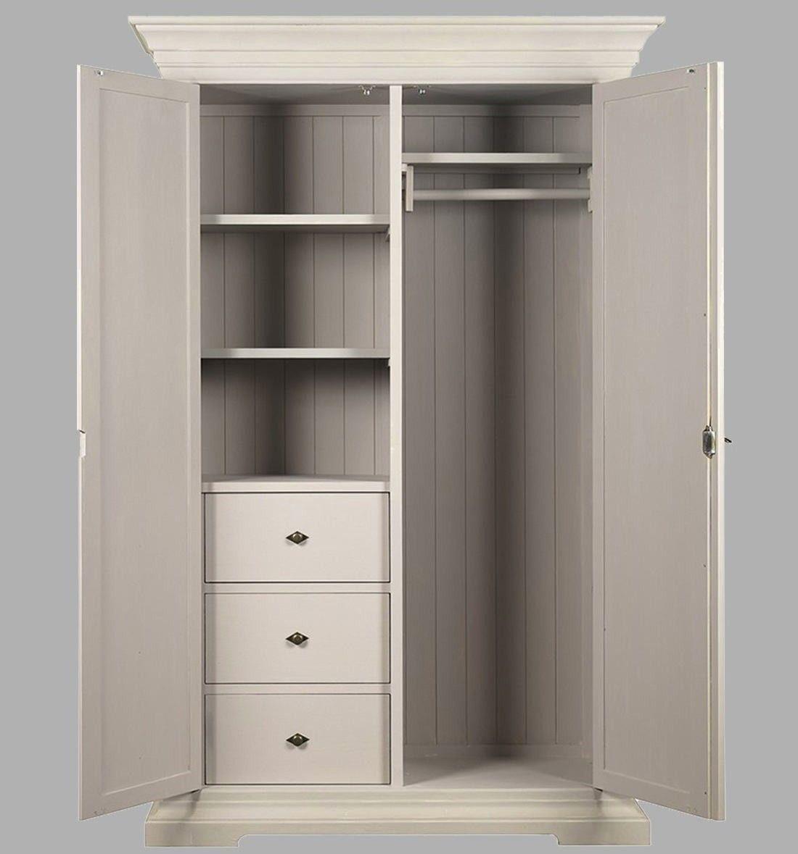 Armario ropero blanco antiguo vilmupa muebles peque os for Gabinete de almacenamiento dormitorio