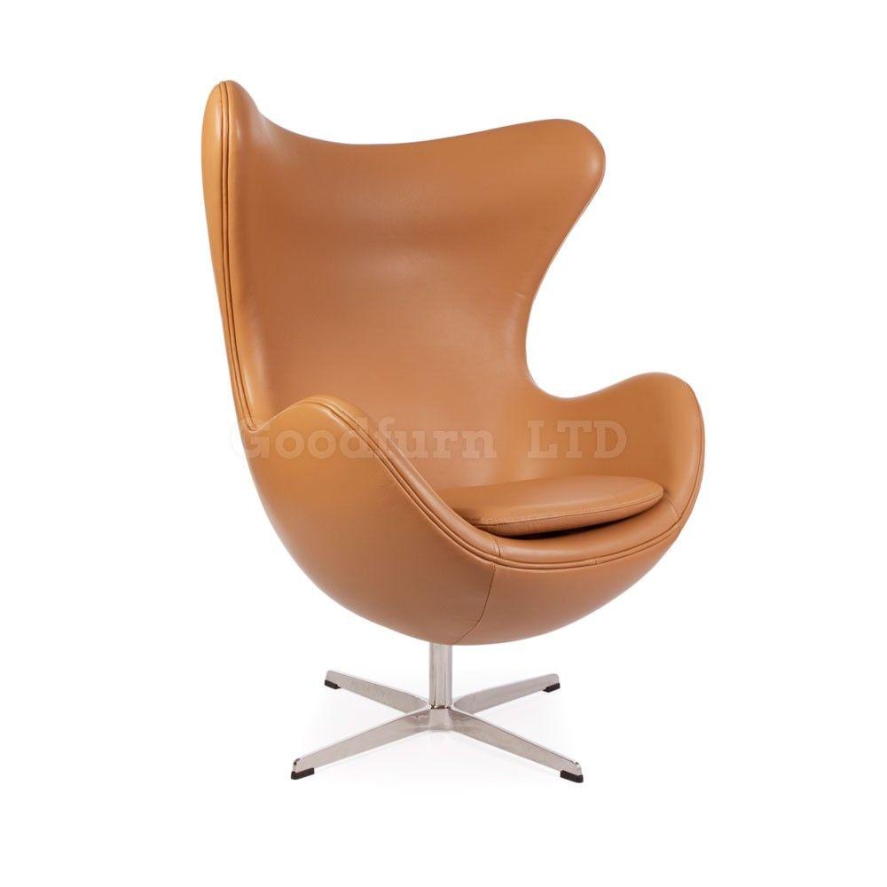 Arne Jacobsen Egg Chair Tan Leather Praxis Interieur Pinterest