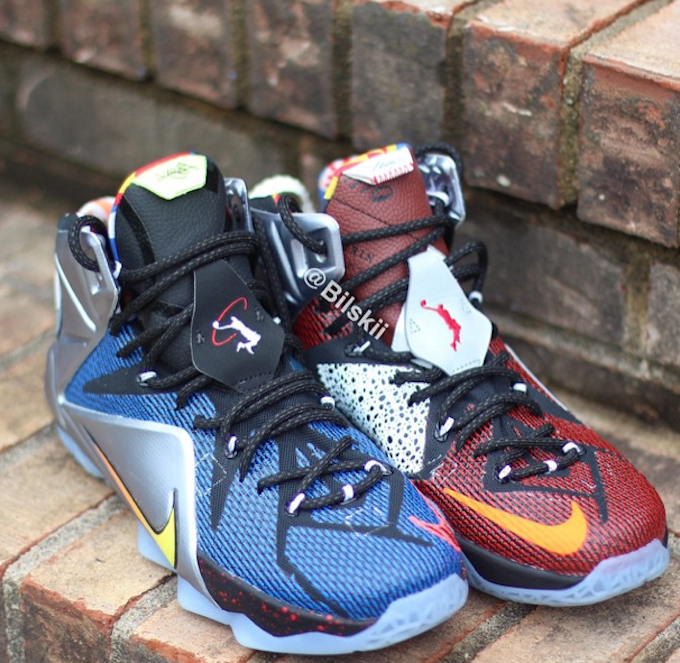 reputable site bce4d d0934 Nike LeBron 12 What The LeBron 12