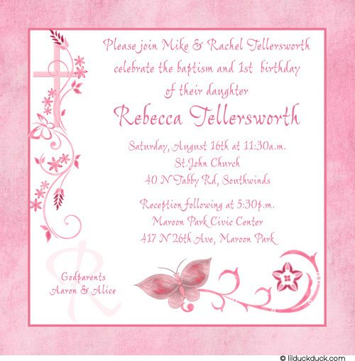 Download Now FREE Template First Birthday And Baptism Invitations