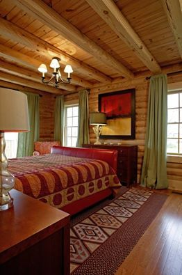 Log Home & Cabin bedrooms