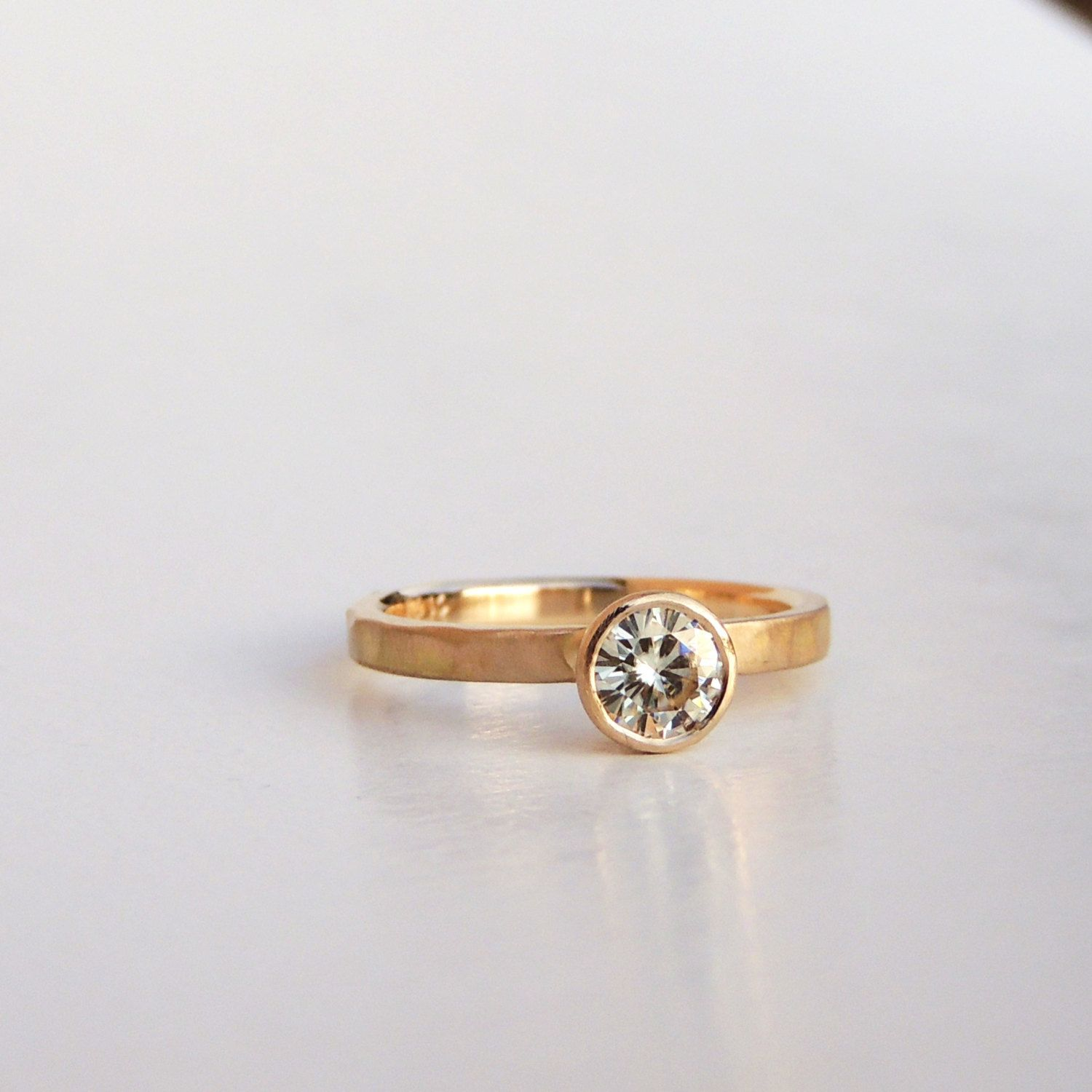 "Engagement Ring ""The Rock"" 14k White Yellow or Rose Gold Forever"