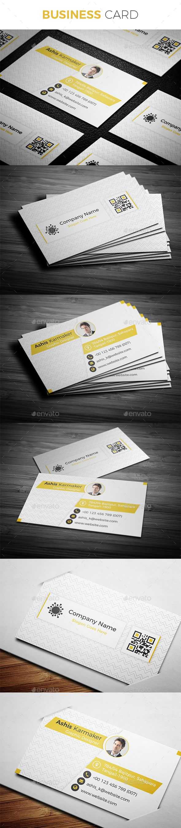#Business #Card - Creative Business Cards Download here: https://graphicriver.net/item/business-card/19554585?ref=alena994