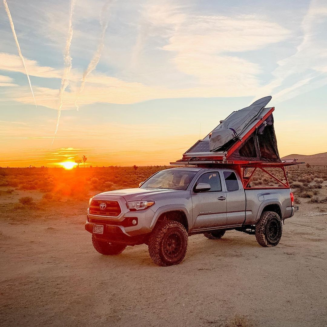Gfc Rooftop Tent Sunrise Toyota Tacoma Trd Toyota Tacoma Roof Top Tent