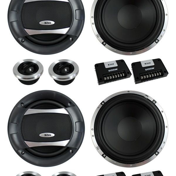 4) BOSS AUDIO PC65.2C 6.5 1000W Car 2 Way Component Speakers Audio Set PC652C | Wish #componentspeakers