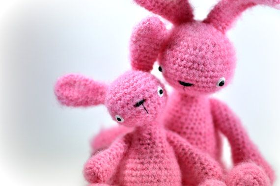 stuffed toy bunnies  Free Shipping by SoftyHandMadegoods on Etsy, $96.00