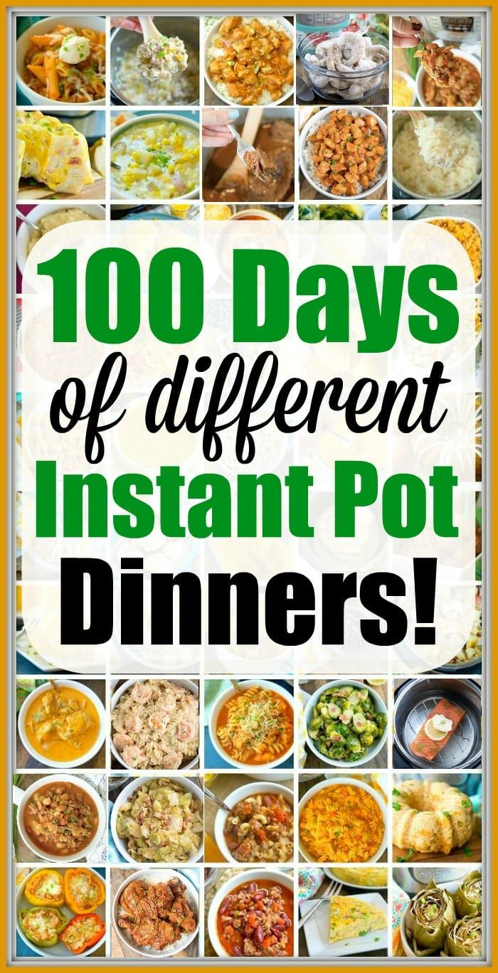100 Instant Pot Dinner Recipes Your Whole Family Will Love