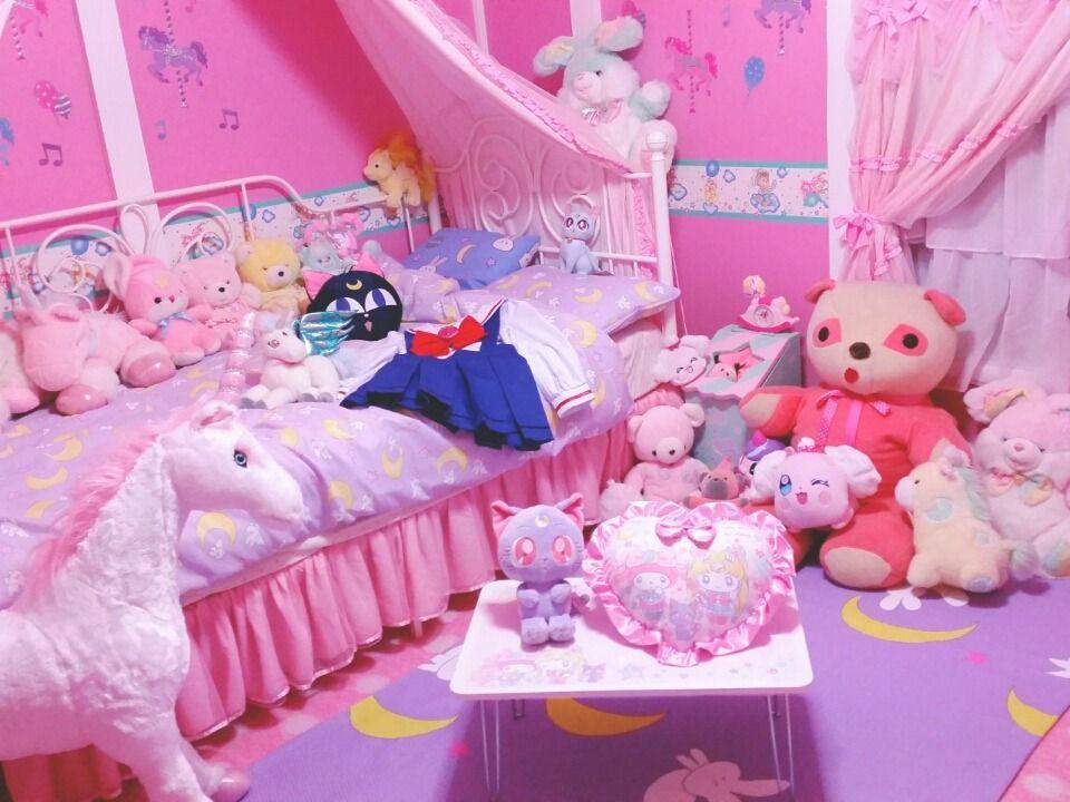 Pinklovelypinkie Kawaii Room Kawaii Bedroom Cute Bedroom Ideas