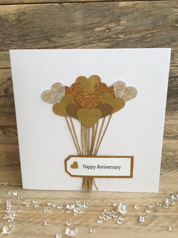 Handmade Anniversary Card Anniversary Wife Husband Girlfriend Boyfri Anniversary Cards Handmade 50th Anniversary Cards Anniversary Cards For Husband