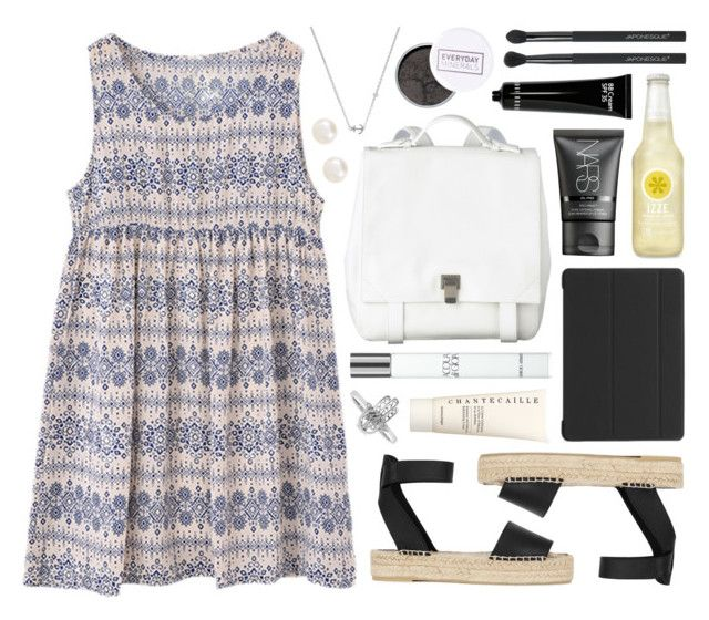"""""""Edia"""" by sophiehackett ❤ liked on Polyvore featuring Sydney Evan, Proenza Schouler, Vince, C6, Chantecaille, NARS Cosmetics, Giorgio Armani, Bobbi Brown Cosmetics, Accessorize and Japonesque"""