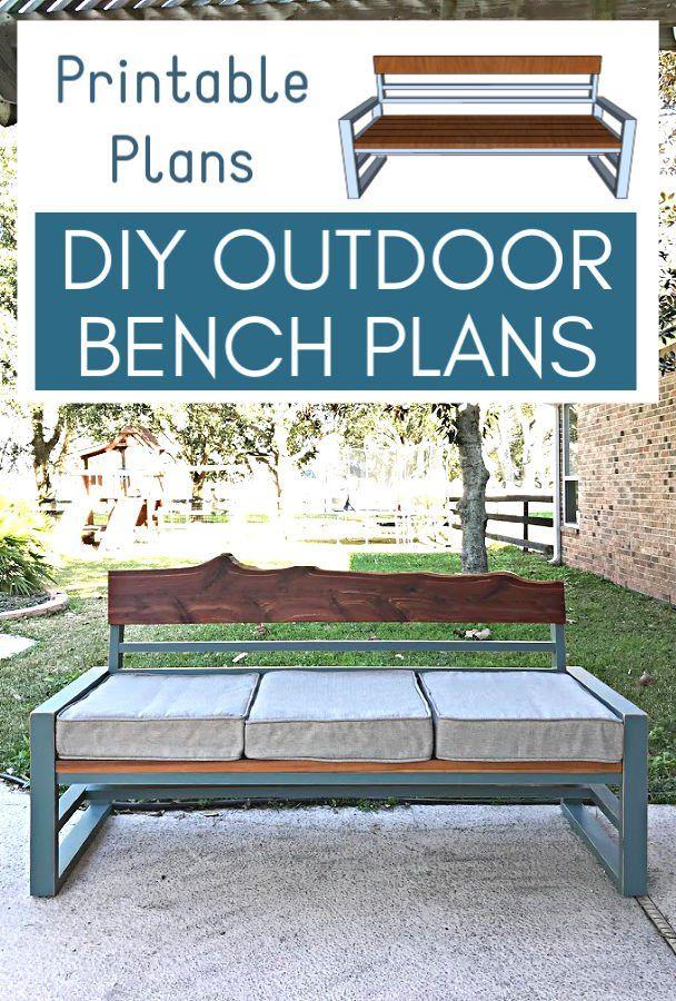 DIY Outdoor Sofa from 2x4 Pine Build Plans Outdoor