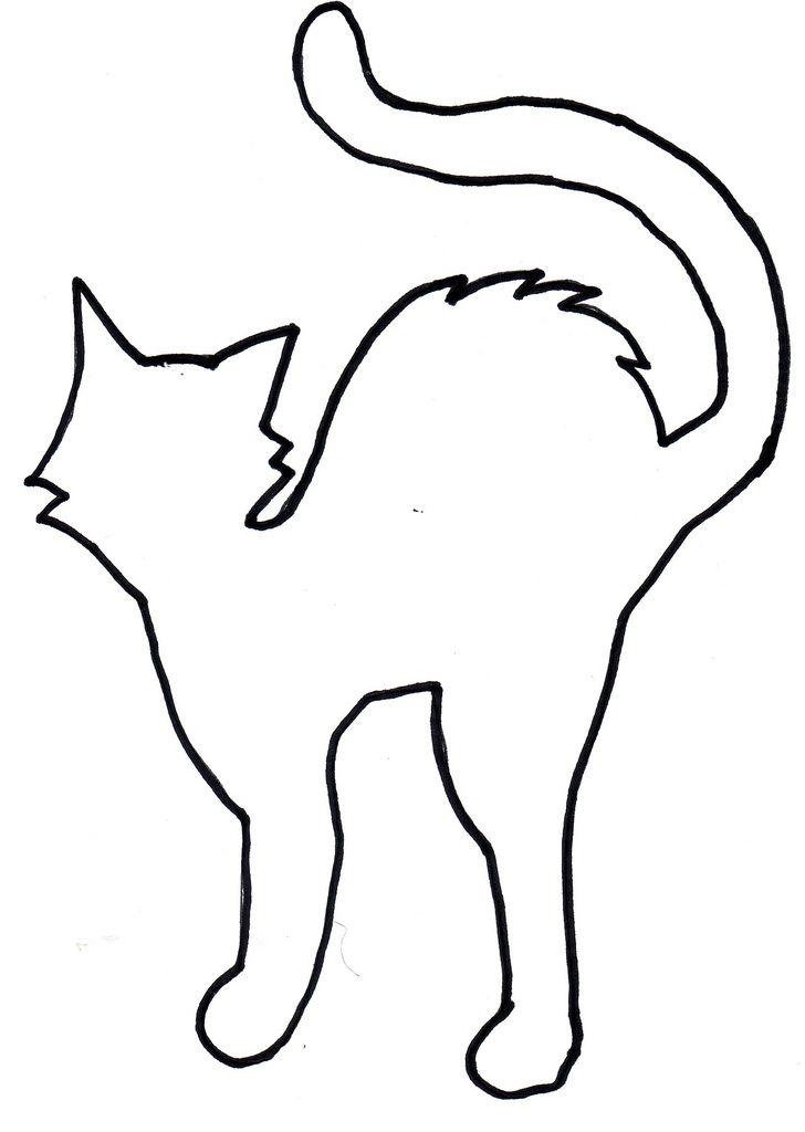 Halloween cat Halloween Pinterest Black paper, Template and Cat - halloween template