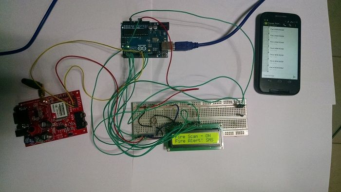 A tutorial on Fire Alarm Project using Arduino and GSM module  SMS