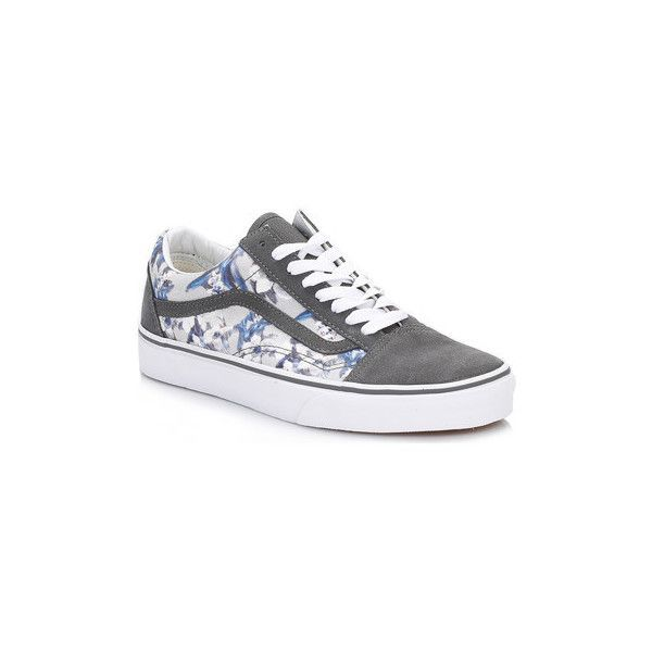 195f11383f0db6 nice Vans Womens Floral Pewter and True White Old Skool Suede Trainers Shoes  (Trainers)