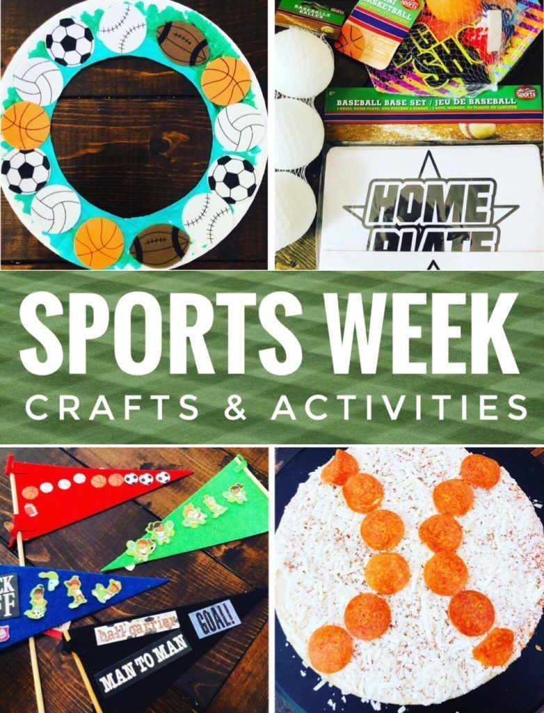 Sports Week Crafts and Activities Glitter On A Dime