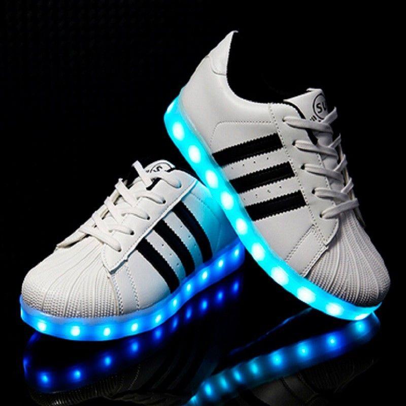 superstar adidas con luces