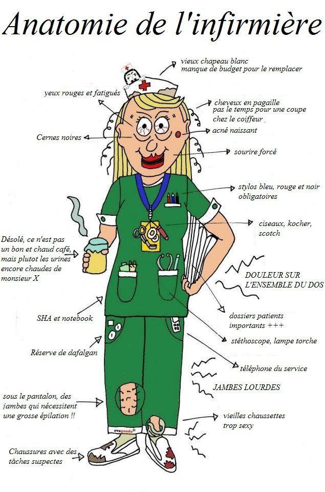 Anatomie de l 39 infirmi re soins infirmi re dr le infirmi re dessin infirmi re - Dessin infirmiere humoristique ...