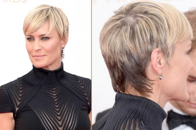 How To Style Short Hair Robin Wright Haircut  How To Style Short Hair Like Robin Wright
