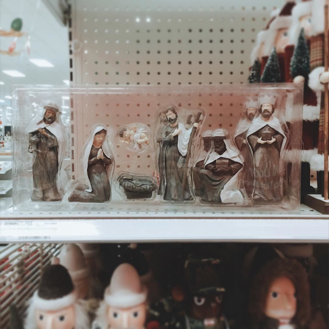 "The ""we're not going to be accurate enough to make everyone Middle Eastern but we will throw in a token African man"" nativity scene. by scoobert_r_doo"
