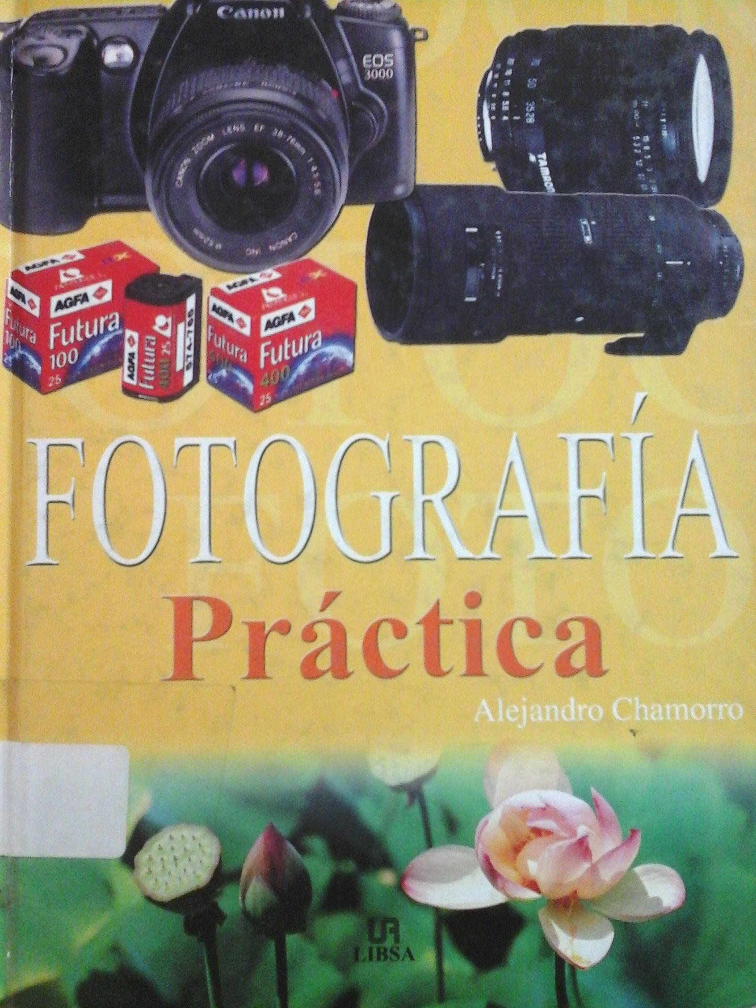 Chamorro Salillas, Alejandro.  Fotografía Práctica. 1ª ed. Madrid: LIBSA , 2004. Disponible en la Biblioteca de Ingeniería y Ciencias Aplicadas. (Primer nivel EBLE)