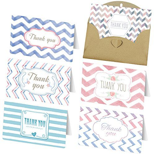 Satkago Thank You Cards 36 Assorted Pack Thank Note Gift 6 Unique
