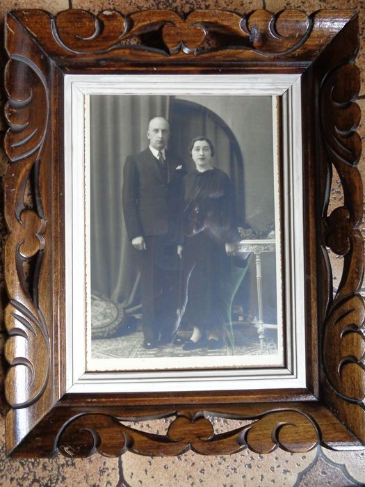 Lot van 3 gesculpteerde houten fotokaders - 2e helft 20e eeuw