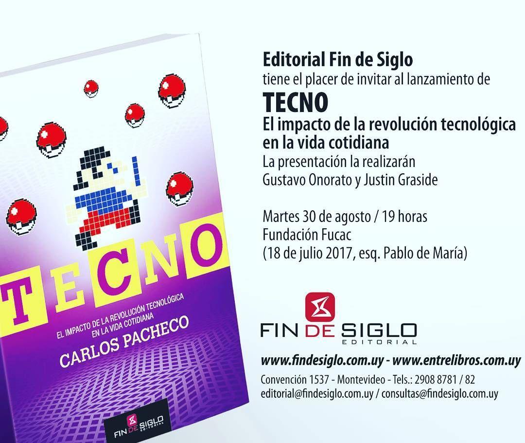 El 30/7 voy a co-presentar el libro 'TECNO: el impacto de la revolución tecnológica en la vida cotidiana' de Carlos Pacheco. Tremendo libro . Nos vemos ahí!