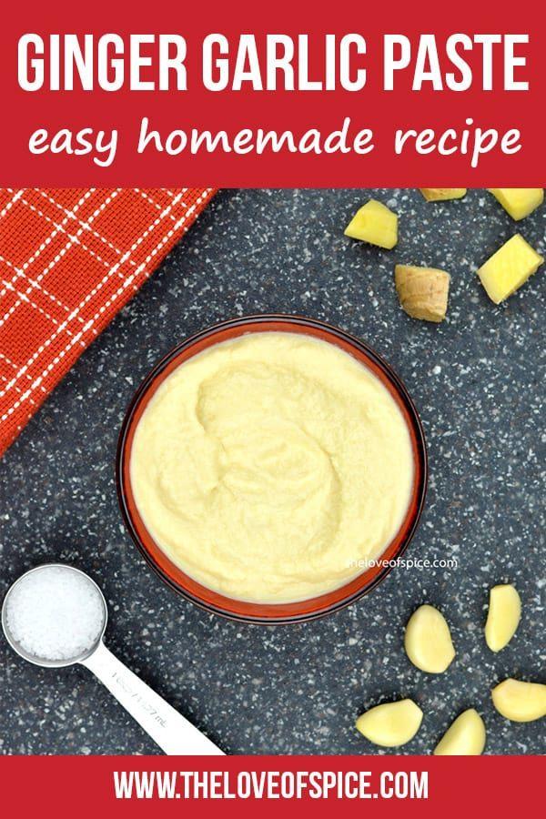 Ginger Garlic Paste Recipe, Ratio and Storage Tips